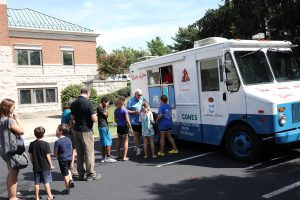 residents at the ice cream truck