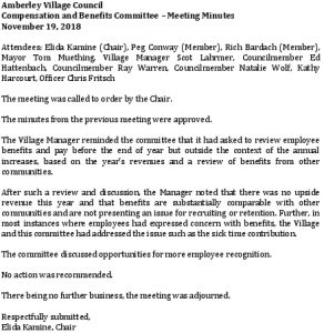 Icon of Compensation And Benefits Commitee 2018-11-19