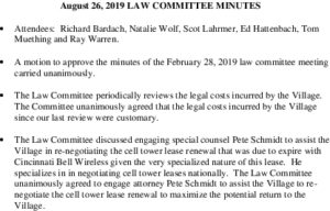 Icon of Law Committee Meeting Minutes 2019-08-26