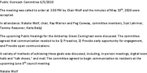 Icon of Public Outreach Committee Minutes 2020-06-05