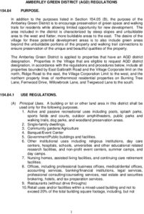 Icon of Amberley Green Zoning Regulations - Final